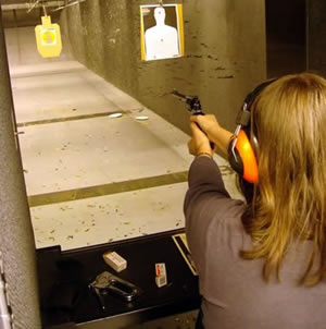 Meryl fires a pistol